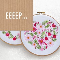 Just a few more hours...   The 2 new kits are 'going live' at 7pm (GMT) and I have 20 of each design available (until more fabric arrives). Any orders placed tonight will be posted first thing in the morning  http://ift.tt/1SyS4gQ #embroidery #etsy #etsyuk #gifts #giftsforher #homedecor #hoopart #fiberart #handembroidery #handmade #ohsewbootiful