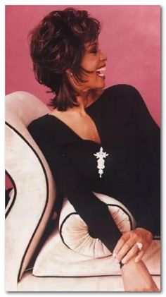Love Whitney's hair...boy she was gorgeous from every angle.