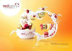 Redberry premium frozen yogurt on Web Design Served Food Advertising, Creative Advertising, Food Clipart, Cinema 4d Tutorial, Digital Art Photography, Graph Design, Commercial Ads, Advertising Photography, Graphic Design Posters