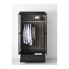 IKEA - UNDREDAL, Wardrobe, , Hinges with integrated dampers catch the door and…