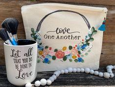 Find me on facebook Fearfully Wonderfully Made, Large Makeup Bag, Facebook, Design