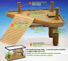 New Turtle Pier(Small) Reptile Ramp  Basking Platform Floats Frog Newts Basking - http://pets.goshoppins.com/reptile-supplies/new-turtle-piersmall-reptile-ramp-basking-platform-floats-frog-newts-basking/