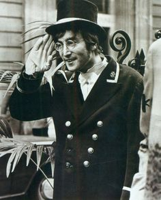 John Lennon filming a skit for Not Only... But Also, November 27th 1966.