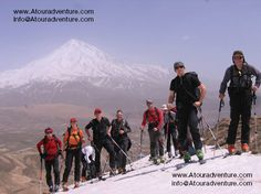 Mt. Damavand 5671m Ski Highest peak on Middle-East www.Atouradventure.com/  #ATOURADVENTURE #Damavand #Damavandclimb #damavandtour