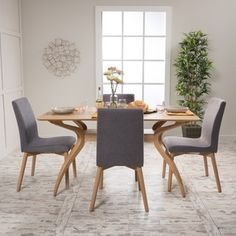 Christopher Knight Home Orrin Mid-Century 5-piece Rectangle Dining Set | Overstock.com Shopping - The Best Deals on Dining Sets
