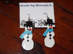 Snowman Duct Tape Earrings only $5!