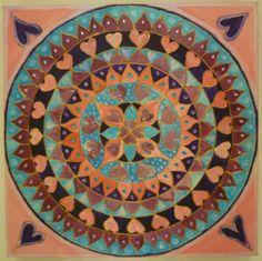hearts 30cmsx30cms on canvas £30