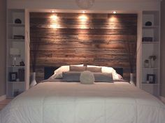40 The Importance of Bed Back Design Headboards Master Bedrooms decoryourhome Rustic Bedroom Design, Rustic Master Bedroom, Master Bedroom Makeover, Master Bedroom Design, Large Bedroom, Home Bedroom, Bedroom Wall, Bedroom Decor, Master Bedrooms