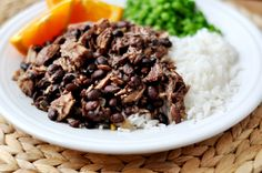 Brazilian Feijoada - pork and black bean stew in the slow cooker