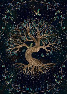 Tree Of Life Art, Tree Art, Arte Yin Yang, Life Poster, Nature Posters, Poster Prints, Art Prints, Celtic Art, Pics Art