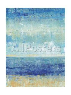 Beach Horizon II Landscapes Art Print - 46 x 61 cm