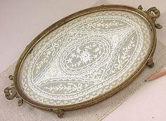 152 Best Vintage Jeweled Gold Ormulo Vanity Trays Boxes Perfume