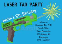laser tag birthday party theme | Laser Tag Invites