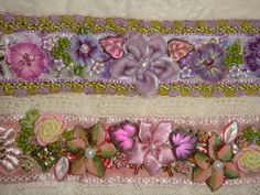 gorgeous ribbon work / embroidery cuffs