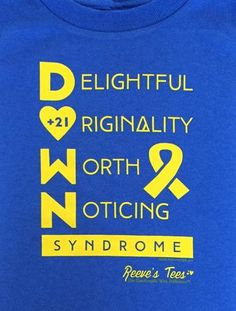 D.O.W.N. Syndrome Awareness Tee - Adult - Long-Sleeve Unisex Tee