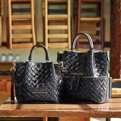 Bold textures and a rich Vacchetta leather trim make The Woven City Collection a stylish choice. bit.ly/1NSX8jF