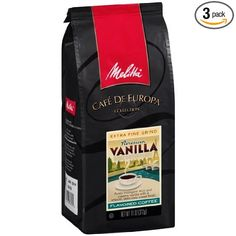Melitta Cafe de Europa Gourmet Coffee, Parisian Vanilla Ground, Flavored, 11-Ounce (Pack of 3) - Order today from #GoodBuysAlltheTime on #Amazon, your go to store for everyday savings!  http://www.amazon.com/Melitta-Gourmet-Parisian-Flavored-11-Ounce/dp/B002TN49F8/ref=sr_1_9?m=A1S859ZUFQJNYR&s=merchant-items&ie=UTF8&qid=1415029960&sr=1-9 #Coffee #CafedeEuropa #Vanilla