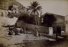 "A photograph taken in Sicily by Giovanni Crupi (1859-1925), ""Badia Vecchia colla Palma - Taormina"", ca.1880s.  Photo: RA/Prudence Cuming Associates Limited © Copyright protected."