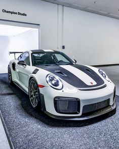 """""""Ready for my closeup."""" Another amazing machine getting ready to be shot in our Champion Studio. Be a Champion Porsche Dealer in… Porsche 911 Gt2 Rs, Porsche Cars, Supercars, Automobile, Cars And Coffee, Porsche Design, Top Cars, Ford Gt, Sexy Cars"""