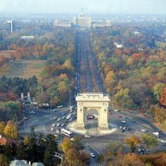 "Fall, in Bucharest - Bucharest was once known as the ""Little Paris"". Oh The Places You'll Go, Places To Travel, Travel Destinations, Places To Visit, Wonderful Places, Beautiful Places, Romania Travel, Romania Tourism, Little Paris"