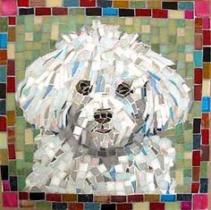 Mosaic Pet Portraits by mosaic artist Cynthia Fisher Mosaic Flower Pots, Mosaic Pots, Mosaic Garden, Mosaic Glass, Stained Glass, Pebble Mosaic, Glass Art, Mosaic Crafts, Mosaic Projects
