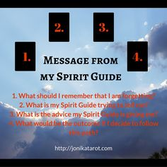 Message from my Spirit Guide Tarot Spread