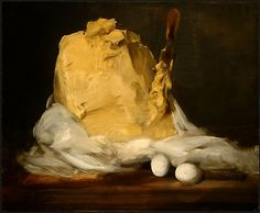 Antoine Vollon (French, 1833-1900), Mound of Butter, 1875-85. Oil on canvas, 50.2 x 61 cm. National Gallery of Art, Washington, DC.