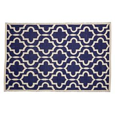 Interlaced shapes come together to form the intricate pattern on our Fretwork Rug. This cotton rug was made by hand, and it's perfect for a playroom, kids room, or even a living room. Nursery Twins, Baby Nursery Decor, Grey And Navy Nursery, Kids Area Rugs, Navy Rug, Rugs In Living Room, Room Colors, Floor Rugs, Crate And Barrel