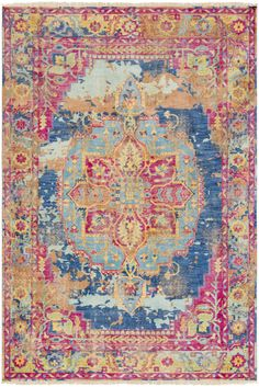 Buy the Surya Pink Direct. Shop for the Surya Pink Festival x Rectangle Wool Hand Knotted Traditional Area Rug and save. Denim Rug, Orange Carpet, Yellow Area Rugs, Pink Rugs, Traditional Area Rugs, Traditional Design, Machine Made Rugs, Carpet Design, Vintage Wool