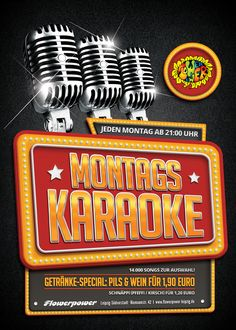 Montag, 16.05.16 - http://flowerpower.news/leipzig/Termine/montags-karaoke-4