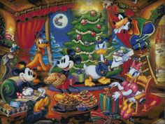 Cross Stitch Pattern of Mickey and the Gang, Instant Download