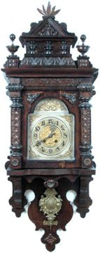 Gustav Becker Ornate Free-Swinger ~ Antique Clocks Guy