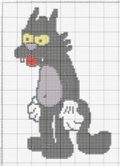 The Simpsons cat x-stitch