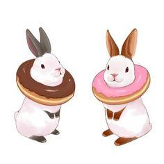 Bunny donut illustration