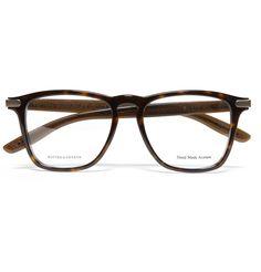 fa30d12458a Bottega Veneta Square-Frame Acetate Optical Glasses