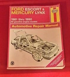 Haynes Repair Manual Ford Escort Mercury Lynx 1981- 1990