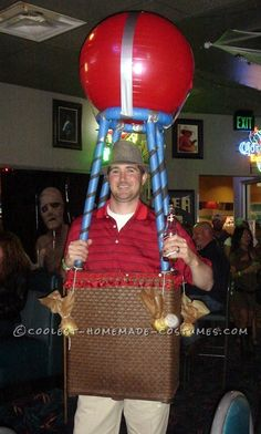Coolest Hot Air Balloon UP Carl Costume... an easy last minute homemade costume idea.