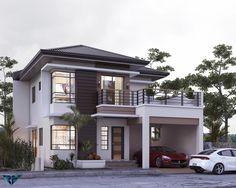 Home | Architect Rocel Guila Uap Double Story House, Two Story House Design, 2 Storey House Design, Bungalow House Design, Small House Design, Modern House Design, Modern House Floor Plans, Modern House Facades, Philippines House Design