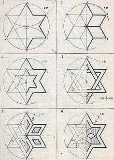 Forma y color Islamic Art Pattern, Arabic Pattern, Pattern Art, Geometry Art, Sacred Geometry, Mandala Design, Mandala Art, Geometric Designs, Geometric Shapes