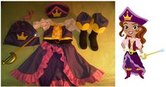 My daughter's 2011 Halloween costume: the Pirate Princess from Jake and the Neverland Pirates on Disney. I got an email this morning (7/18) from someone who saw it on Craftfoxes asking me to make one for their daughter. When I went to the Craftfoxes site, I saw that someone else had offered to buy it and that it had been pinned 6 times. Who knew?! So I figured maybe I should pin it myself. I did make it after all. ;-) Follow the pin link if you'd like to know how. Thanks for looking!