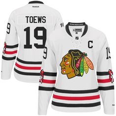 Womens Chicago Blackhawks Jonathan Toews Reebok White 2015 Winter Classic  Premier Player Jersey 463eb2f81