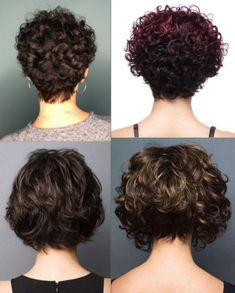 Short Wavy Haircuts, Short Curly Hairstyles For Women, Haircuts For Curly Hair, Curly Hair Cuts, Short Hair Cuts, Curly Hair Styles, Curly Pixie, Short Natural Curly Hair, Short Hair Updo