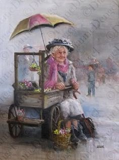 flower marketer waiting for the rain to pass <3