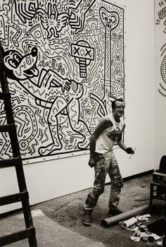 Keith Haring And Basquiat Art