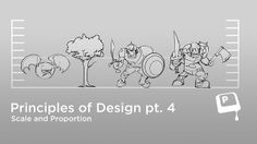 Principles of Design: Scale and Proportion by matt kohr. Check out http://www.ctrlpaint.com/ for more free videos, worksheets, and premium content.