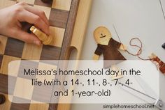 Melissa shares her day with her six children, ages 14 to 1 ~ such a lovely rhythm! // simple homeschool