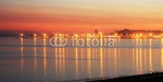 Sunset at the beach of Durres