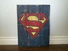 Perfect for your little super hero! Vintage Superman Wood Sign by TheCreativePallet on Etsy, $40.00