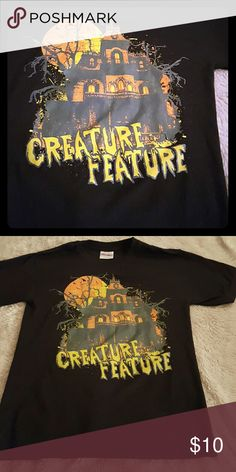 Creature feature band tee Creature feature band tee  Halloween  costume  Gothic  Hot topic  Goth  Punk  Metal Hot Topic Tops Tees - Short Sleeve
