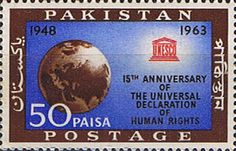 Pakistan Stamps 1963 Human Rights Fine Mint SG 194 Scott 186 Other Asian and British Commonwealth Stamps HERE!